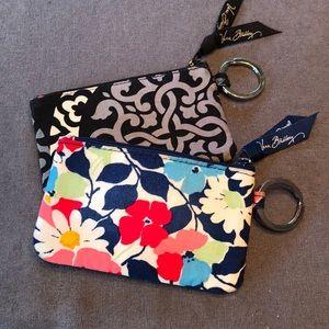 Set of 2 Vera Bradley zip ID cases